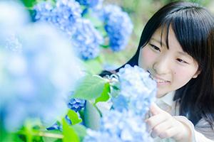 江汐公園の紫陽花と一緒にポートレート撮ってきた!