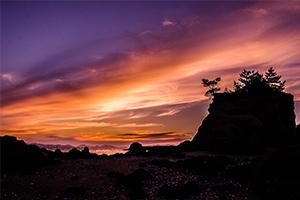 最近のお気に入りスポット本山岬公園で夕陽を撮ってきた!