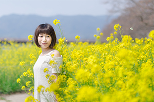 光市の島田川河川公園で菜の花ポートレート撮ってきた!